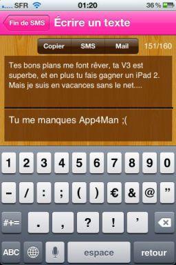 texte Exclusivité : Lapplication Fin de SMS gratuite en partenariat avec App4Phone !