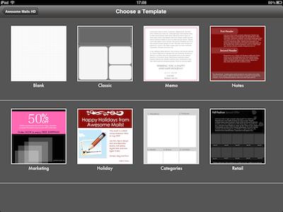 CcrsAwesomeMailsHD 012 Test de Awesome Mails HD pour iPad : De la mise en page pour vos eMails ! (2,39€)