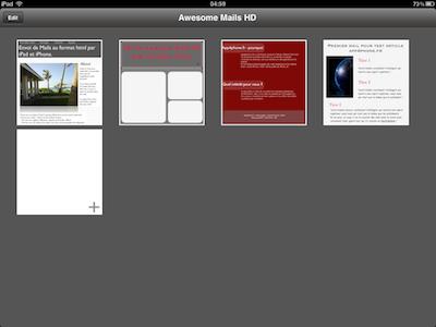 CcrsAwesomeMailsHD 021 Test de Awesome Mails HD pour iPad : De la mise en page pour vos eMails ! (2,39€)