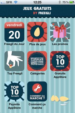 Freegli 1 Freegli : Le couteau suisse du jeu vidéo sur lApp Store (Gratuit)