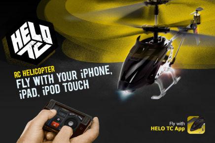 Helo TC PR Image FINAL Concours : 2 hélicoptères Griffin Helo TC, commandés via iPhone, à gagner (38€)