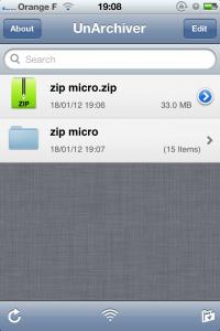 IMG 1160 200x300 Test de UnArchiver   La solution Zip et RAR pour iDevice (0,79€)