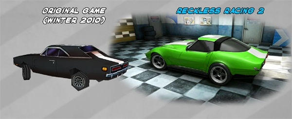 RR2 Comparaison Reckless Racing 2 arrivera sur lApp Store le 2 février 2012