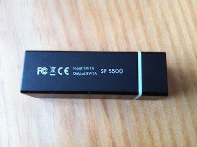 TestMipow5500 009 Test de la Batterie Mipow Power Tube : Une batterie pour les charger tous ! (79€)