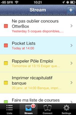 TestPocketLists 012 Test de Pocket Lists   Un Gestionnaire de tâches qui vaut le détour (2,39€)