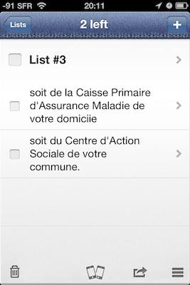 TestPocketLists 023 Test de Pocket Lists   Un Gestionnaire de tâches qui vaut le détour (2,39€)