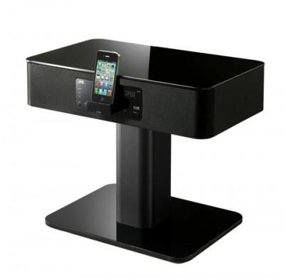 article table de nuit dock version noire e1328029918688 Une table de nuit équipée dun dock iPhone... ou linverse !