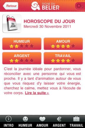 aad540eaf7ffcd Horoscope Astro 2 Horoscope Astro   Un superbe horoscope quotidien sur  votre iPhone (Gratuit)