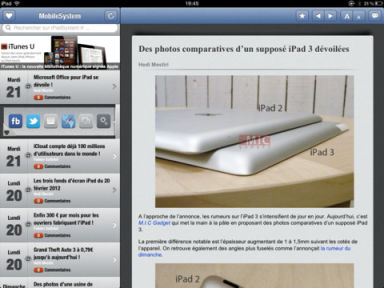 Mobile System 2 MobileSystem : Toute lactualité sur votre iPad (Gratuit)