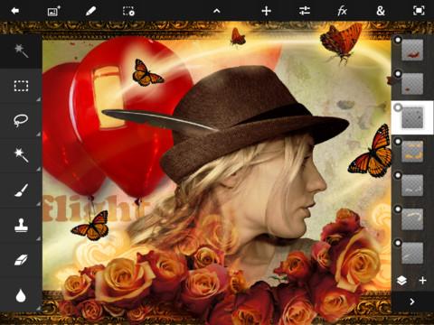 PhotoTouch 1 Adobe PhotoShop Touch débarque sur iPad 2 !