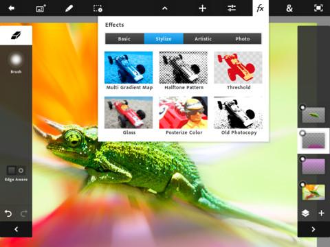 PhotoTouch 3 Adobe PhotoShop Touch débarque sur iPad 2 !