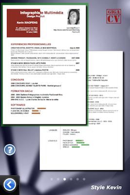 TestGiga CV 019 Test de Giga CV : Réaliser son CV sur iPhone (2,39€)