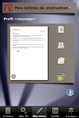 TestGiga CV 020 Test de Giga CV : Réaliser son CV sur iPhone (2,39€)