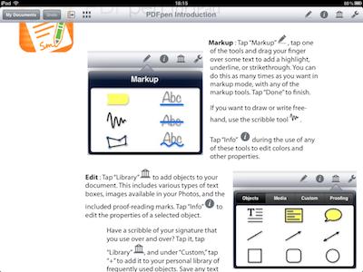 TestPDFPen 003 Test de PDFPen : Un nouvel outil pour travailler vos PDF sur iPad (7,99€)