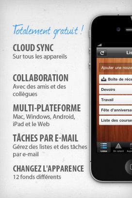 Wunderlist Les App4Tops de la semaine 7 : nos coups de coeur