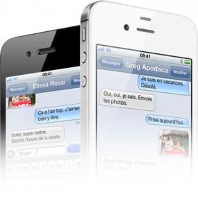 imessage 285x300 SMS au volant : liPhone contre !
