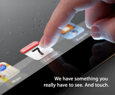 ipad3 invitation iPad 3 : ça sera bien pour le 7 mars