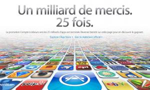 25 millards merci Apple 300x180 Les 25 milliards de téléchargements dapp ont été franchis !