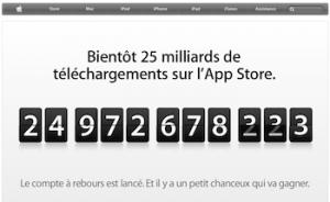 25 millions2 300x184 Apple.com : le compte à rebours en page daccueil