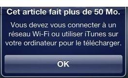 50 Mo en 3G Limite de téléchargement en 3G sur lApp Store à 50 Mo maintenant !