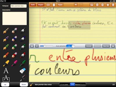 CcrsGhostwriterNotes 004 Test de Ghostwriter Notes pour iPad   Prise de notes Manuscrites et bien plus ! (2,99€)