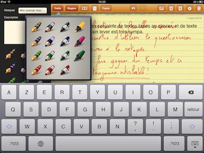 CcrsGhostwriterNotes 005 Test de Ghostwriter Notes pour iPad   Prise de notes Manuscrites et bien plus ! (2,99€)