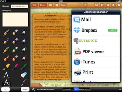 CcrsGhostwriterNotes 010 Test de Ghostwriter Notes pour iPad   Prise de notes Manuscrites et bien plus ! (2,99€)