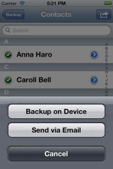 Contacts Backup Les bons plans de lApp Store ce samedi 3 mars 2011