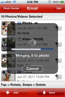 Email photo sender Les bons plans de lApp Store ce lundi 5 mars 2012