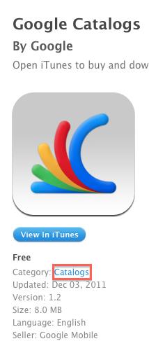 Exemple catalogue Une nouvelle catégorie sur lApp Store : Catalogues