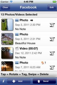 Facebook photo sender Les bons plans de lApp Store ce dimanche 11 mars 2012