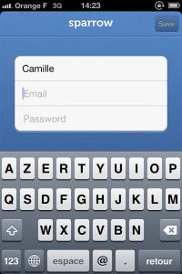 IMG 16832 200x300 Test de Sparrow: le célèbre client mail Mac enfin disponible sur votre iDevice (2,39€)
