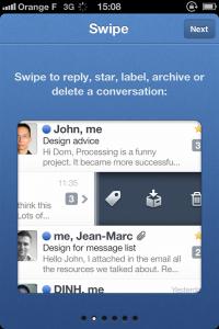IMG 1685 200x300 Test de Sparrow: le célèbre client mail Mac enfin disponible sur votre iDevice (2,39€)