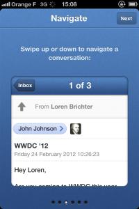 IMG 1686 200x300 Test de Sparrow: le célèbre client mail Mac enfin disponible sur votre iDevice (2,39€)