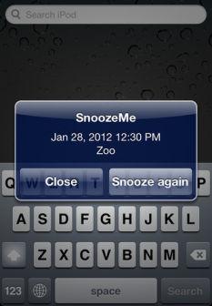 Snooze 2 Lapplication Snooze Me est temporairement gratuite en partenariat avec App4Phone
