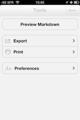 TestByWord 004 Test de ByWord   Un éditeur de texte totalement intégré à lunivers Apple (2,39€)