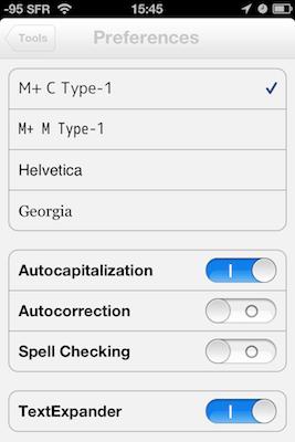 TestByWord 005 Test de ByWord   Un éditeur de texte totalement intégré à lunivers Apple (2,39€)