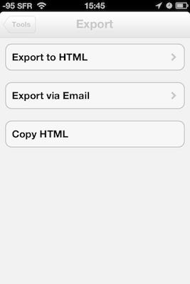 TestByWord 006 Test de ByWord   Un éditeur de texte totalement intégré à lunivers Apple (2,39€)
