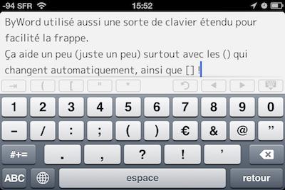 TestByWord 012 Test de ByWord   Un éditeur de texte totalement intégré à lunivers Apple (2,39€)