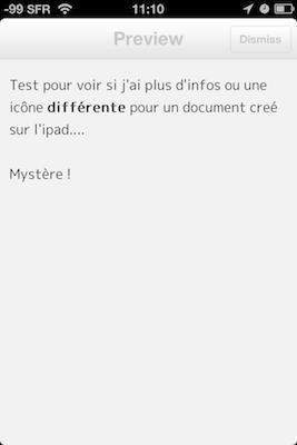 TestByWord 020 Test de ByWord   Un éditeur de texte totalement intégré à lunivers Apple (2,39€)