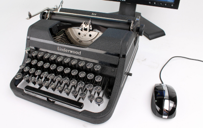 Typewriter modèle 2 Retour vers le futur avec le Typewriter
