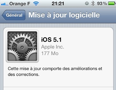 iOS5.1 screen iOS 5.1 et iTunes 10.6 sont de sortie !