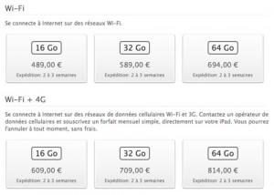 iPad 3 Rupture de stock 300x214 Le nouvel iPad déjà en rupture de stock !
