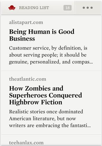 Liste d'articles