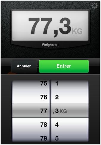Selecteur de poids.