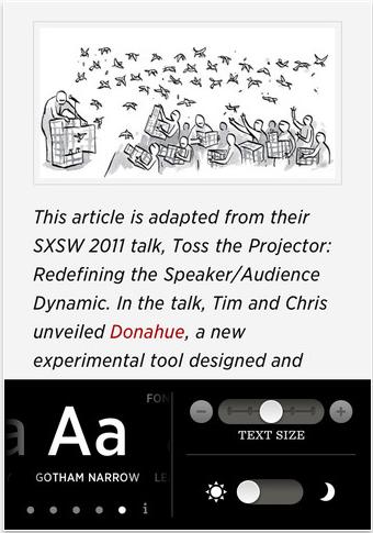 screen capture 31 Test de Readability : Un assistant de lecture agréable (gratuit)