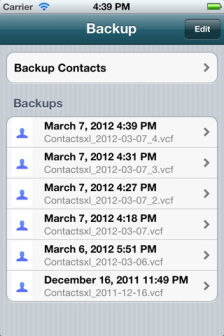 Backup contacts Les bons plans de lApp Store ce mercredi 18 avril 2012