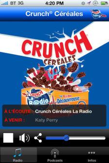 Crunch Cereales radio Les bons plans de lApp Store ce dimanche 8 avril 2012