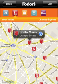 Fodors paris Les bons plans de lApp Store ce lundi 23 avril 2012