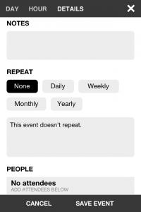 IMG 1798 200x300 Test dEvent Calendar (Tempus): un très beau calendrier pour gérer vos rendez vous (2,39€)